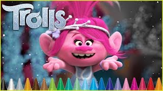 Trolls Holiday Coloring Poppy - Coloring Pages | Kids Coloring Book