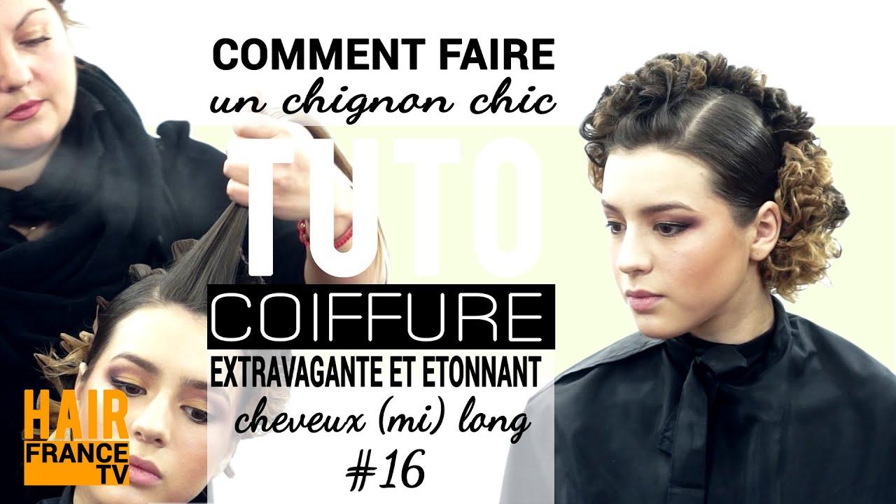 Comment faire un chignon chic pour soiree. HAIR France TV - YouTube