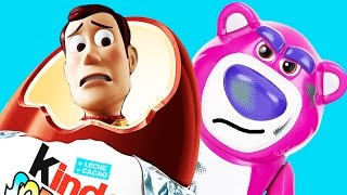Toy story pixar woody Surprise egg unboxing with Buzz lightyear & dinosaur Rex