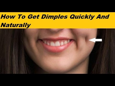 How To Get Dimples Quickly And Naturally - YouTube