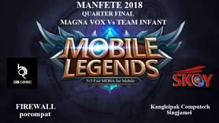 MOBILE LEGENDS : Bang Bang Manfete 2018 SEMI FINAL (ORB gaming Vs M.O )