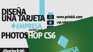 Tutorial de Photoshop - Tarjeta de Presentación con Photoshop CS6 en Español