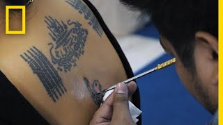 Former Monk Blesses Others With His Spiritual Tattoos   National Geographic