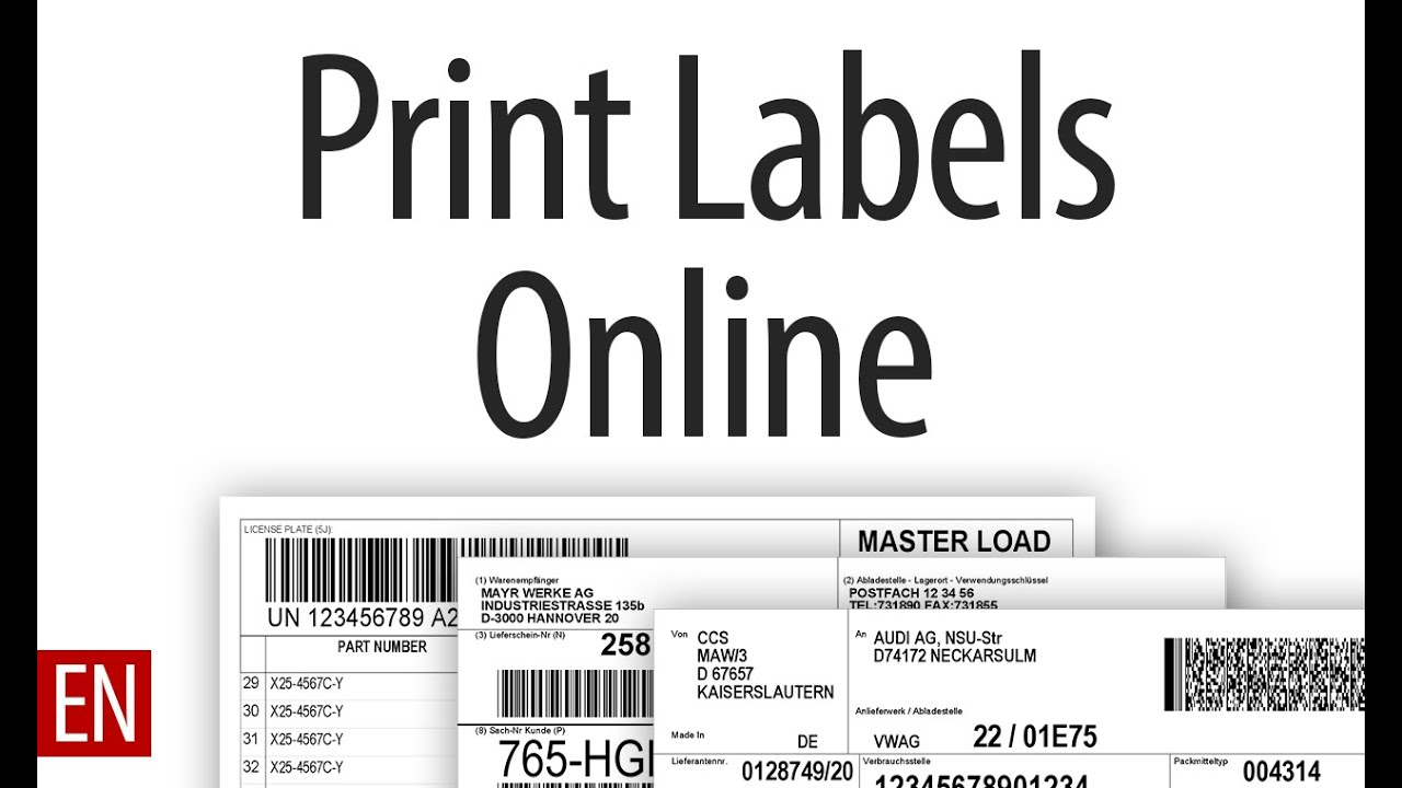 create and print labels online in your browser [ 1280 x 720 Pixel ]