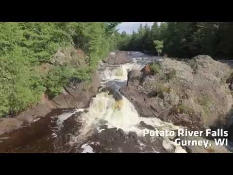 Potato River Falls - Hurley, Wisconsin 1080P