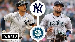 New York Yankees vs Seattle Mariners Highlights || September 8, 2018