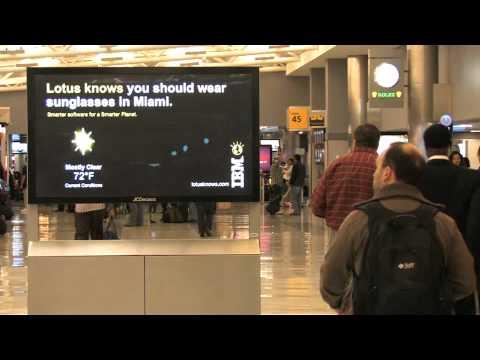 JCDecaux North America: IBM Weather on Digital Screens JFK Airport