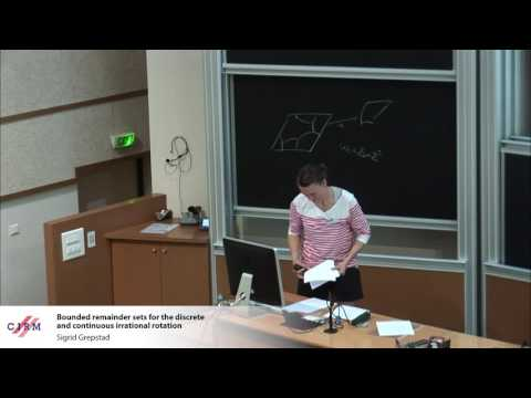 Sigrid Grepstad:  Bounded remainder sets for the discrete and continuous irrational rotation