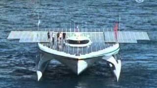 Яхта на солнечных батареях вышла в кругосветку((www.ntdtv.ru) 27 сентября из Монако отправился в кругосветное путешествие крупнейшее в мире судно на солнечных..., 2010-09-30T23:11:58.000Z)