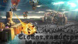 Clash of Clans- Combinación de ataque terrestre y aéreo (golem/magos-sabueso/globos)