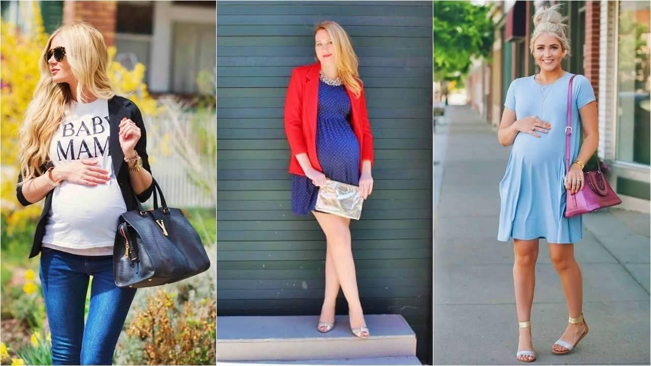 Imagenes de vestidos casuales para embarazadas