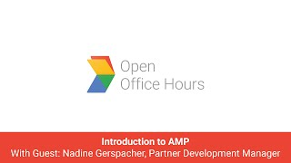 News Lab German AMP office hour: Introduction to AMP with Nadine Gerspacher, Partner Development ...