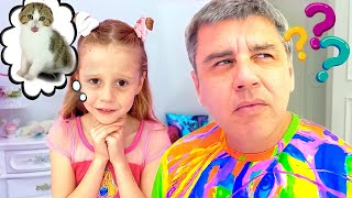 Dad learn how to put Nastya to bed. The bedtime story for kids