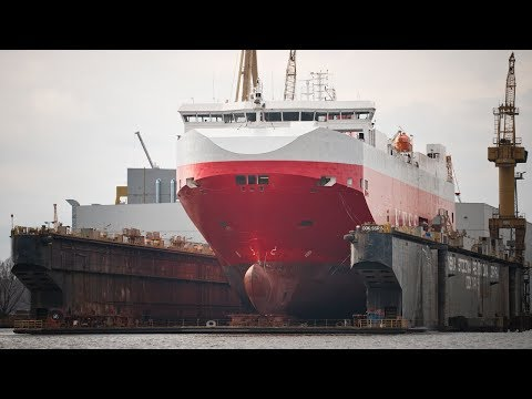 KESS Shipping Elbe Highway Ship Launch Car Carrier Cargo RO-RO Vessel