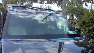how to setup rolladeck and remove windshield on a 2006 chevy equinox