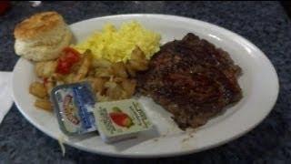 テキサスステーキ ヒューストン空港 steak and eggs