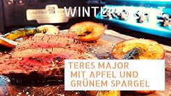 Teres Major mit Apfel und grünem Spargel | Winter grillt