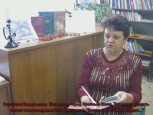 Изображение предпросмотра прочтения – СветланаБелякова читает произведение «Вчера еще в глаза глядел...» М.И.Цветаевой