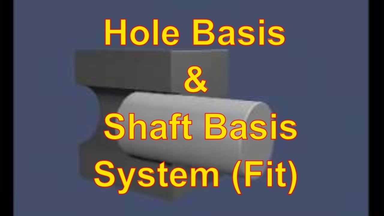 Fits - Hole Basis System and Shaft Basis System