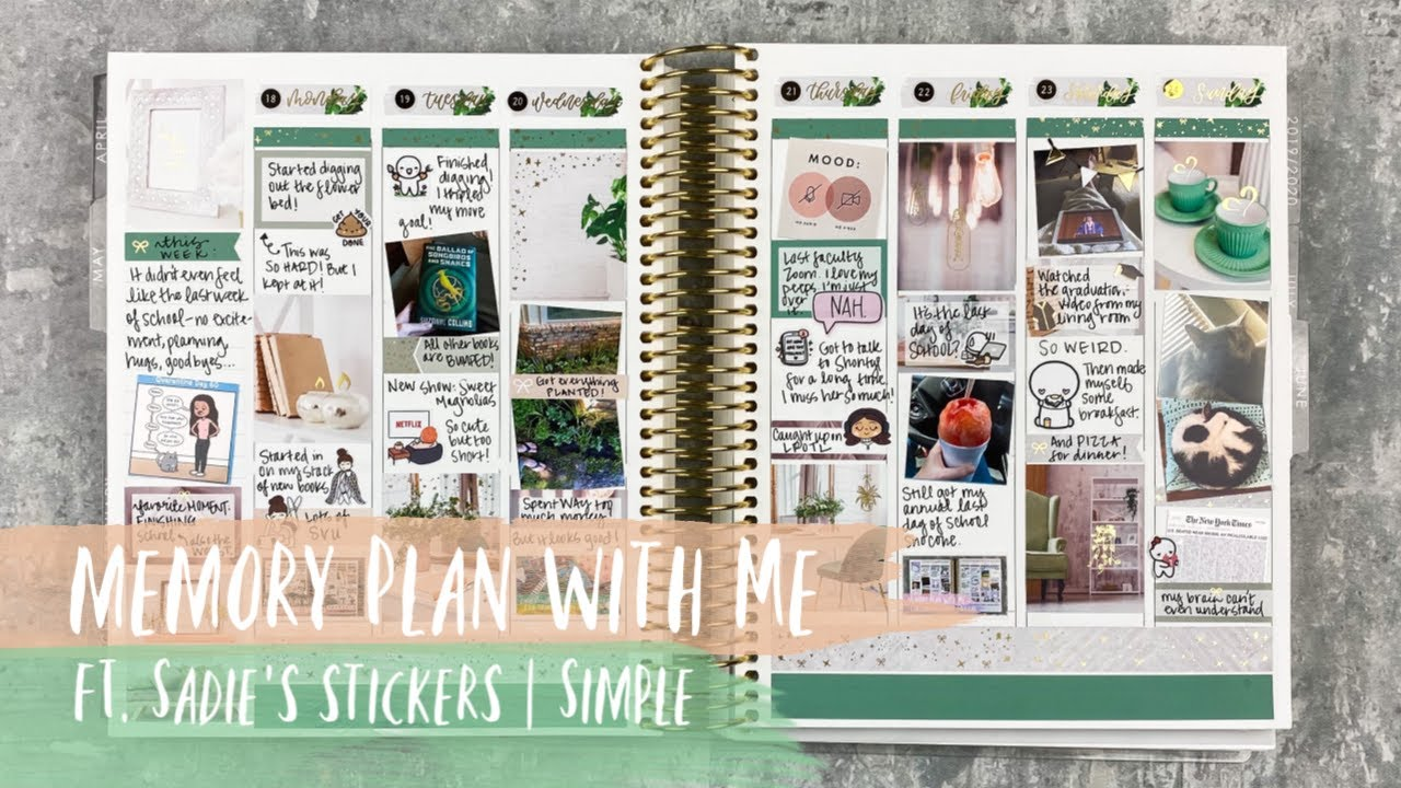 MEMORY PLAN WITH ME | ft. sadie's stickers | SIMPLE | tattooed teacher plans