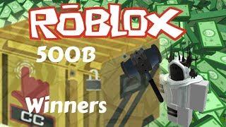 CASE CLICKER 500B Giveaway Winners! -Roblox