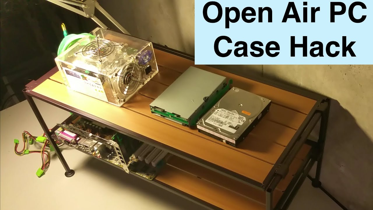 open air computer case tech station hack unboxing diy youtube