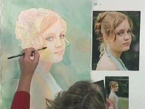 Step by step watercolor portraits by suzanna winton dvd for Watercolor painting step by step