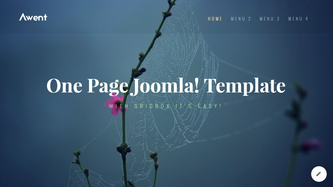 Joomla One Page Template With Gridbox Youtube