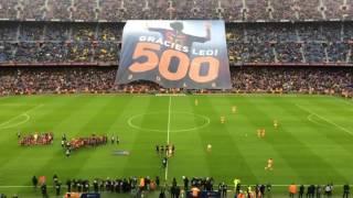 رياضة  بالفيديو.. احتفال مثير لجماهير برشلونة برقم ميسي