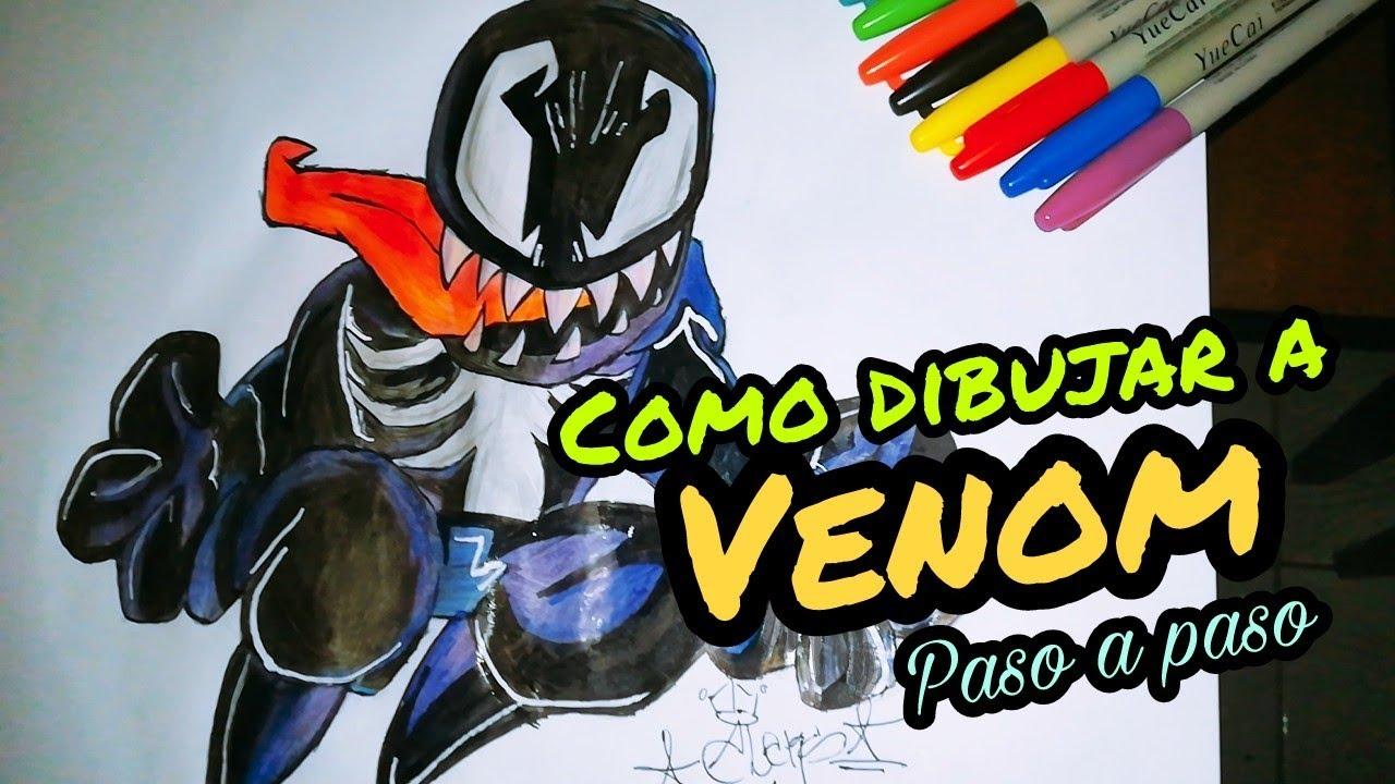Como Dibujar A Venom Como Dibujar A Venom Paso A Paso How To Draw Venom Marvel By Aleks Fonseka