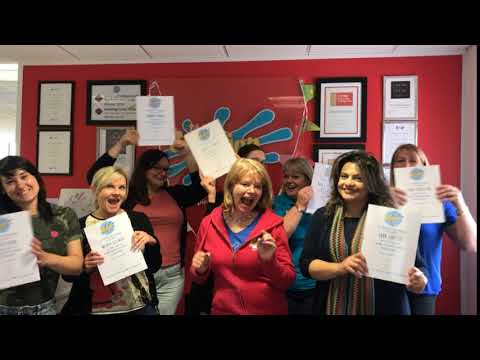 Our awesome new franchisees celebrate passing their Creation Station Training with Sarah Cressall!
