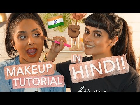 Makeup Tutorial in HINDI!!! ft. Babbu The Painter (FUNNY!) | Deepica Mutyala