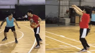 RONNIE ALONTE at ZEUS COLLINS Basketball practice for STAR MAGIC All Star Games 2017