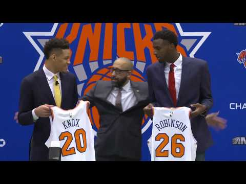 New York Knicks Introduce 2018 NBA Draft Picks