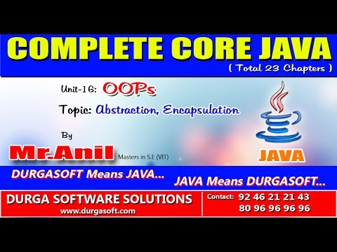 Core Java - OOPS Abstraction,Encapsulation