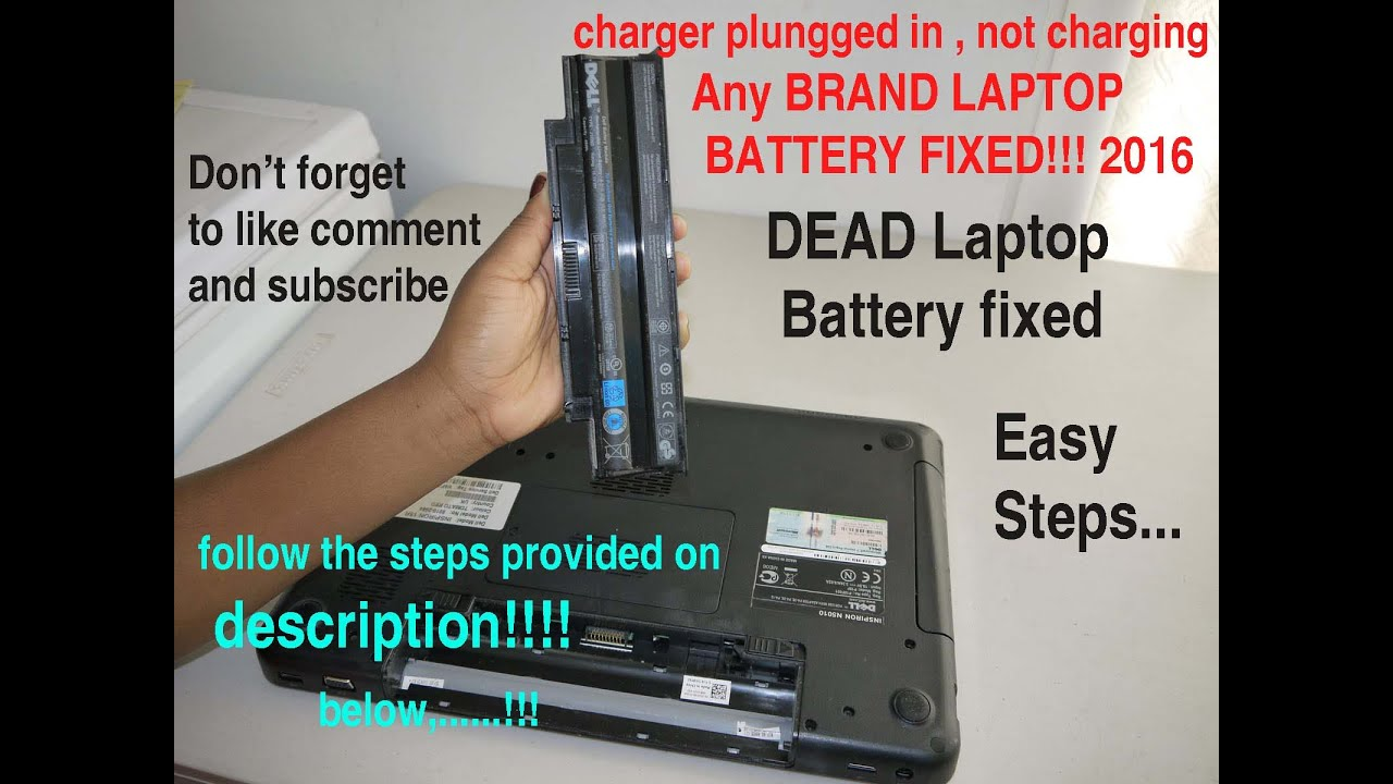 laptop battery not charging plugged in not charging free easy battery fix 100 working. Black Bedroom Furniture Sets. Home Design Ideas