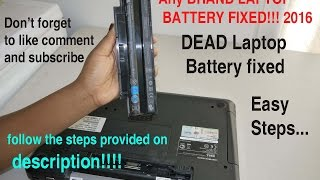 how to fix dead laptop battery not charging 2016 100 working