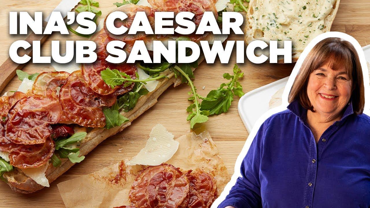 Ina Garten's Chicken Caesar Club Sandwich | Barefoot Contessa | Food Network