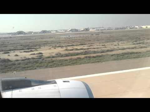 Iraq Baghdad - Take-Off with Emirates from Baghdad to Dubai International Airport (HD)