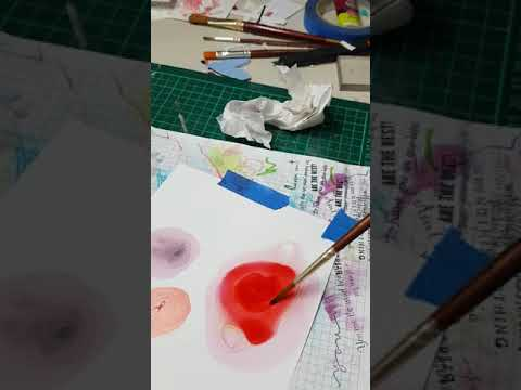 CrafTangles Liquid Watercolor on Yupo Paper Demo [DIY]