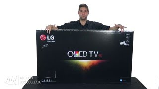unboxing lg 55 black uhd 4k curved oled 3d smart hdtv with webos 3 0 oled55c6p