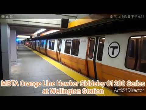 MBTA Orange Line Hawker Siddeley 01200 Series at Wellington Station ( Picture Video )