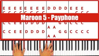 ♫ EASY - How To Play Payphone Maroon 5 Piano Tutorial Lesson - PGN Piano