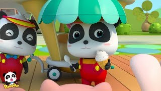 Baby Panda's Ice Cream Truck | Ice Cream Maker | Kids Role Playing | BabyBus