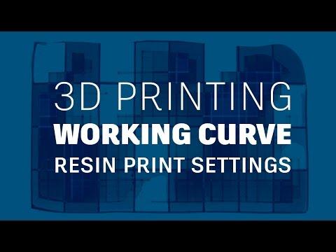 Determine settings for 3D printing resins