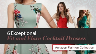 6 Exceptional Fit and Flare Cocktail Dresses Amazon Fashion Collection