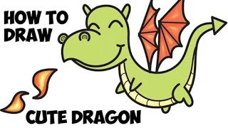 How to Draw a Cute Dragon Easy Step by Step for Beginners and Kids Drawing Tutorial