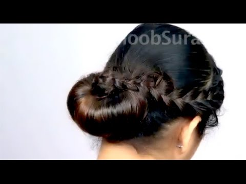 Romantic Wedding Low Bun With Side Braid Hairstyle Youtube