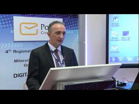 Izlaganje Milan Martinovića, izvršnog direktora Pošte Crne Gore,IV regionalno poštansko savjetovanje