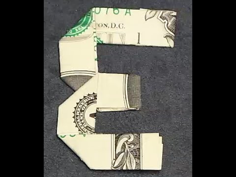 fold origami dollar bill alphabet letter e youtube